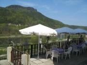 Blick zum Lilienstein von unserer Terrasse