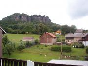 Blick vom Balkon zum Pfaffenstein