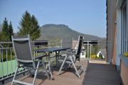 Ausblick zum Lilienstein von der Terrasse im Dachgeschoß