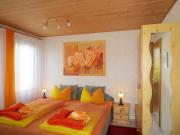 Wohn - und Schlafraum mit Doppelbett und TV