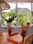 Wohnraum - Blick zum Lilienstein