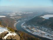 Blick nach Bad Schandau vom Lilienstein