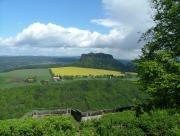 Blick zum Lilienstein von der festung Königstein