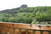 Blick vom Balkon auf den Lilienstein