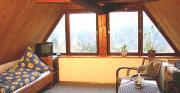 Ferienzimmer mit einem wunderschönen Blick über das Polenztal zum Hockstein.